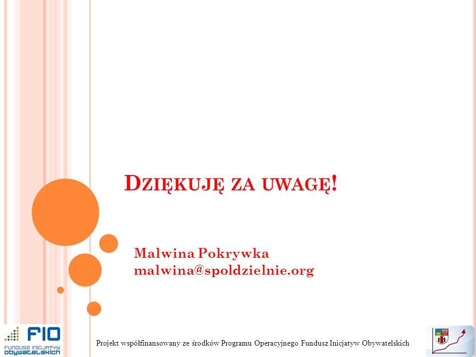 Malwina Pokrywka malwina@spoldzielnie.org