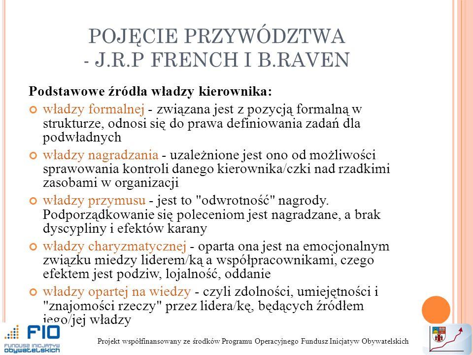 POJĘCIE PRZYWÓDZTWA - J.R.P FRENCH I B.RAVEN