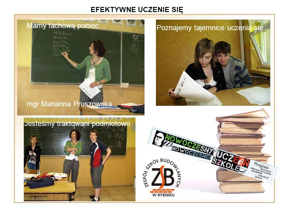 EFEKTYWNE UCZENIE SIĘ Mamy fachową pomoc… mgr Marianna Pruszowska. Poznajemy tajemnice uczenia się…