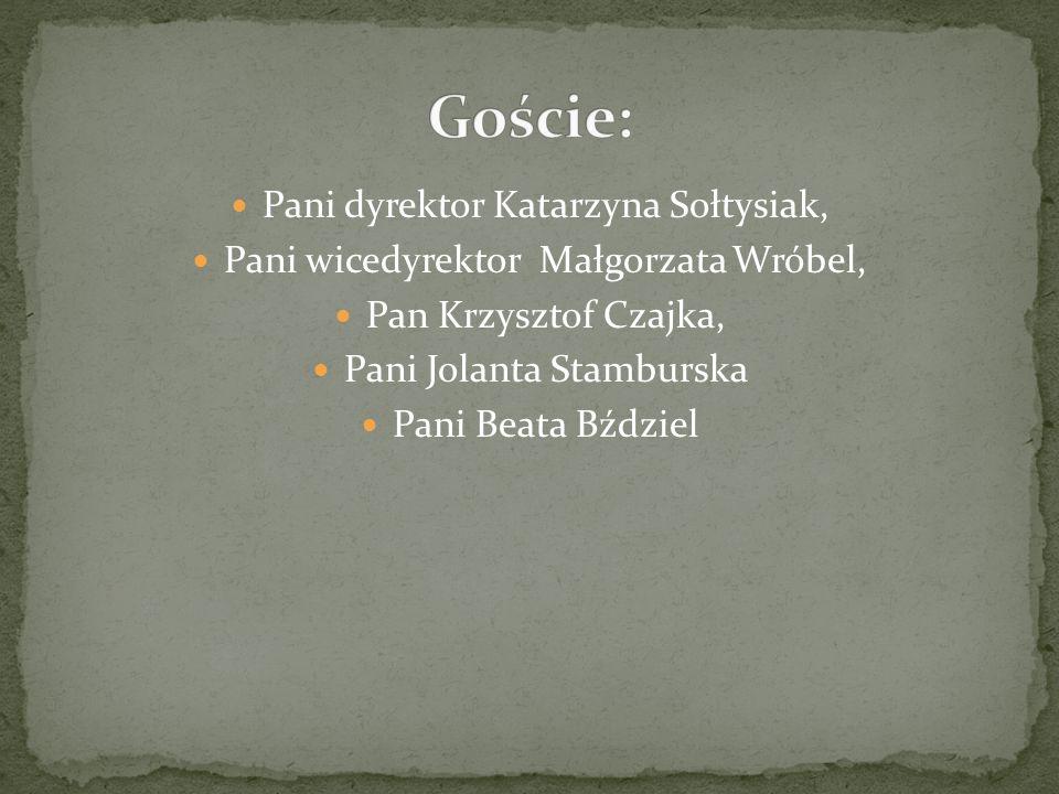 Goście: Pani dyrektor Katarzyna Sołtysiak,