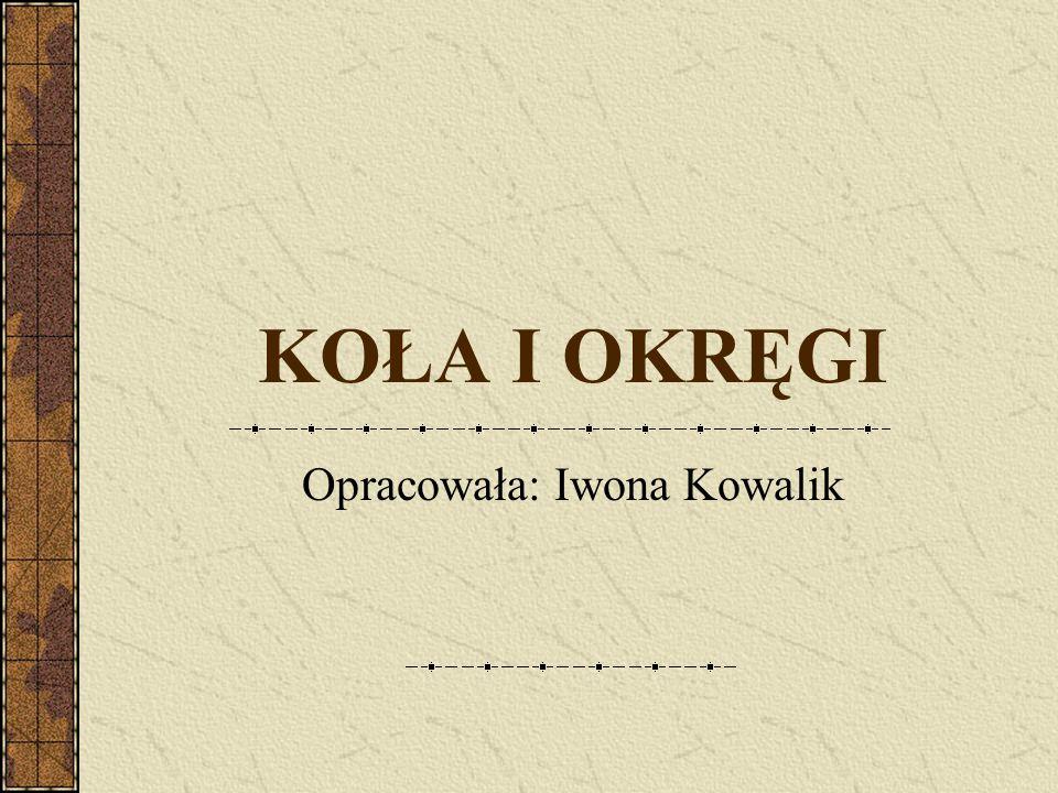 Opracowała: Iwona Kowalik