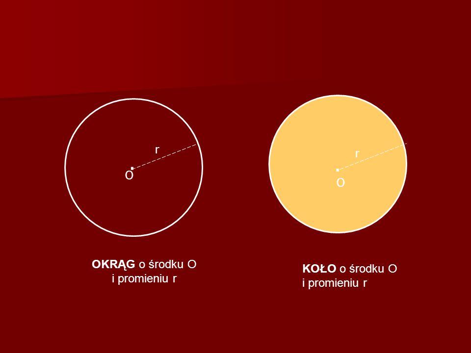 OKRĄG o środku O i promieniu r