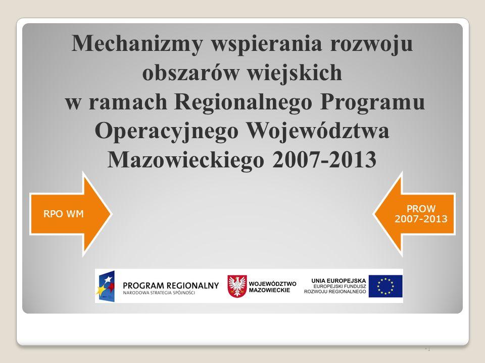 Mechanizmy wspierania rozwoju obszarów wiejskich