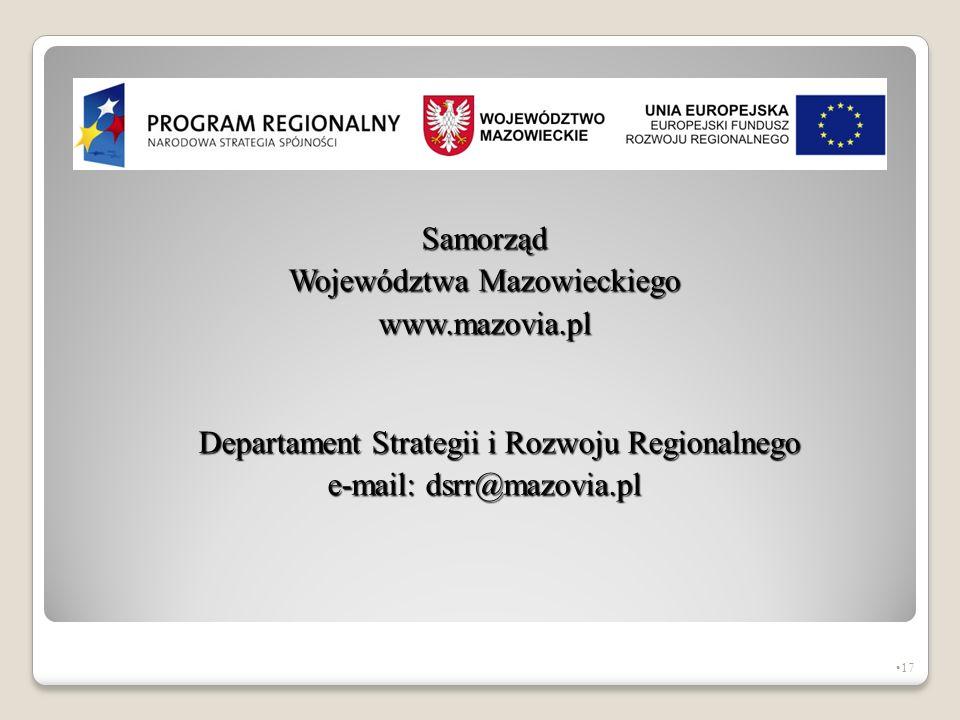 Województwa Mazowieckiego www.mazovia.pl