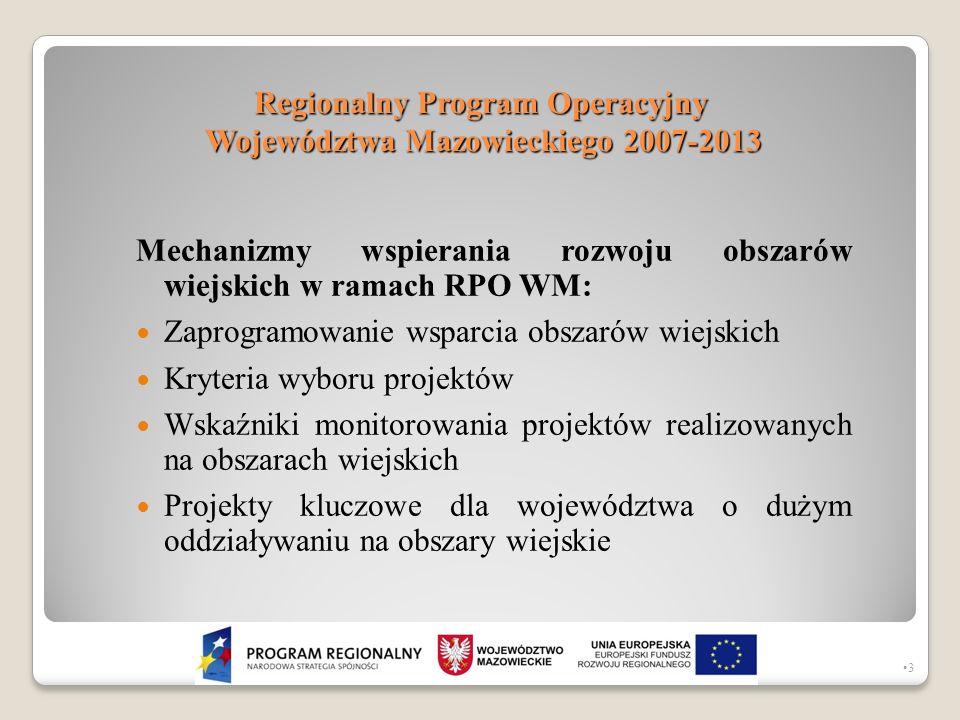 Regionalny Program Operacyjny Województwa Mazowieckiego 2007-2013