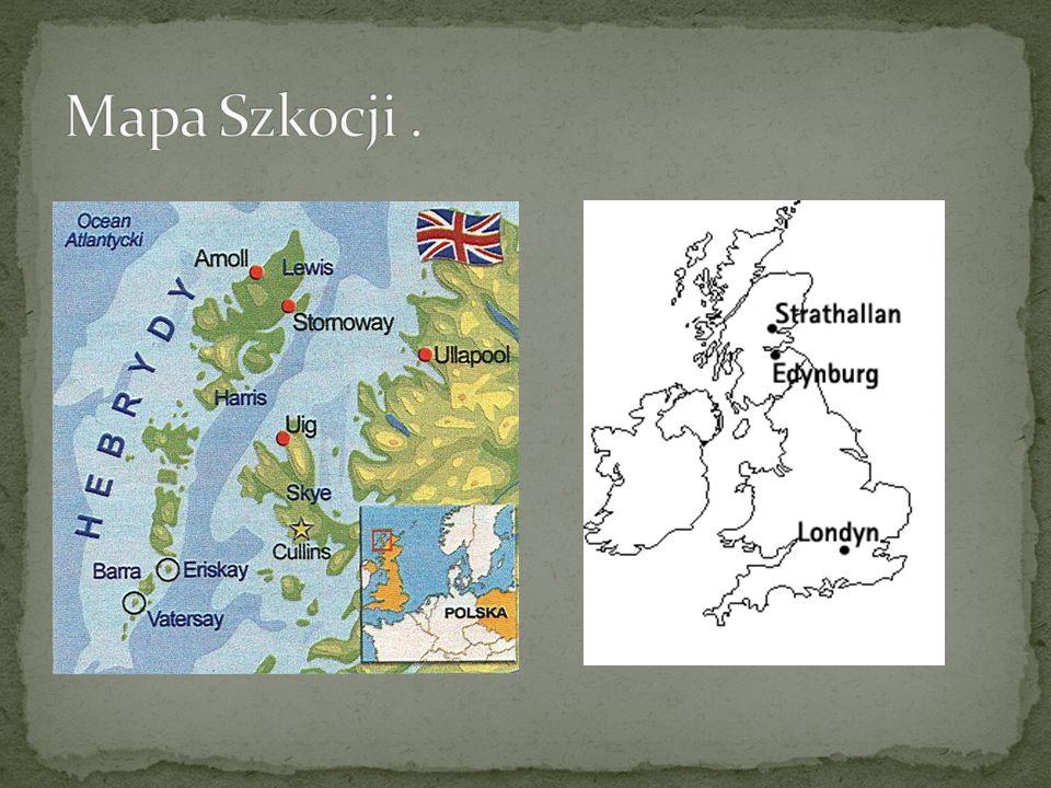 Mapa Szkocji .