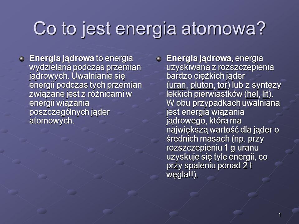 Co to jest energia atomowa