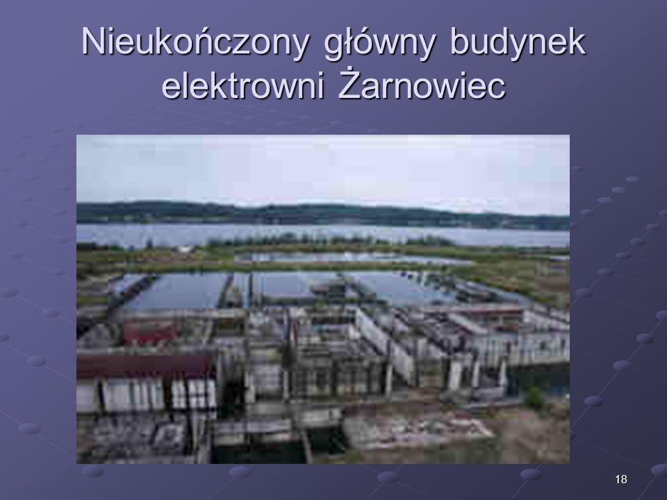Nieukończony główny budynek elektrowni Żarnowiec