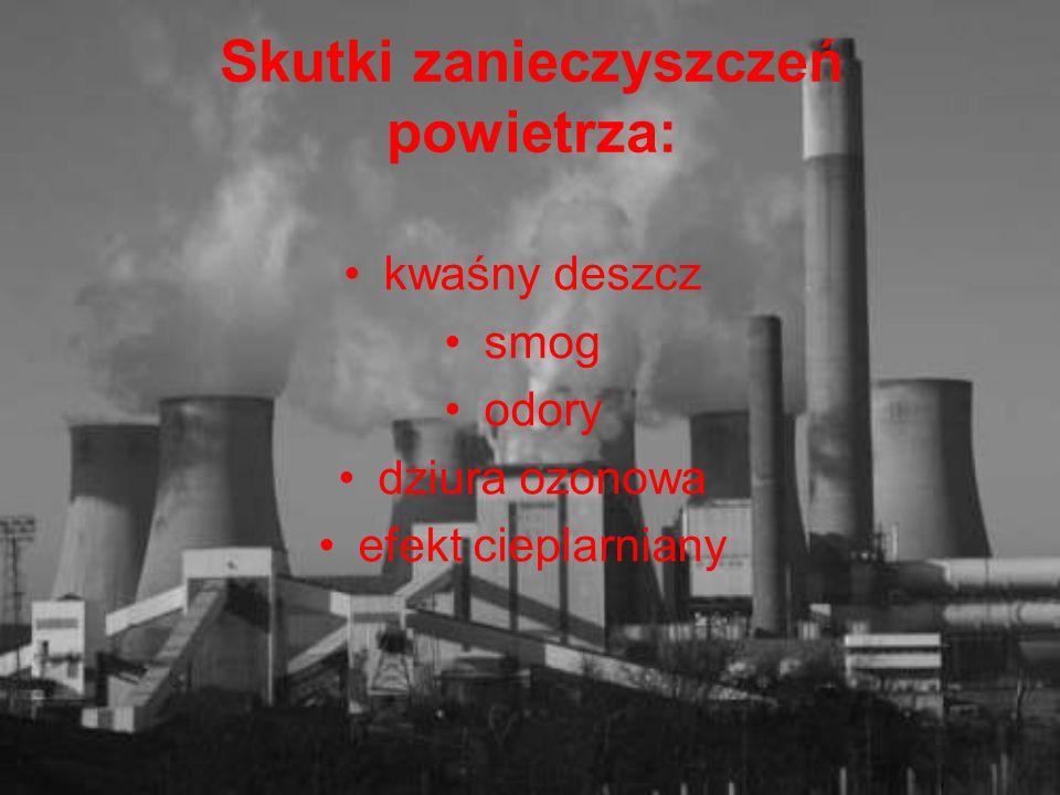 Skutki zanieczyszczeń powietrza: