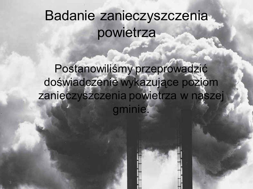 Badanie zanieczyszczenia powietrza