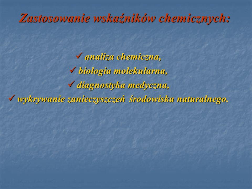 Zastosowanie wskaźników chemicznych: