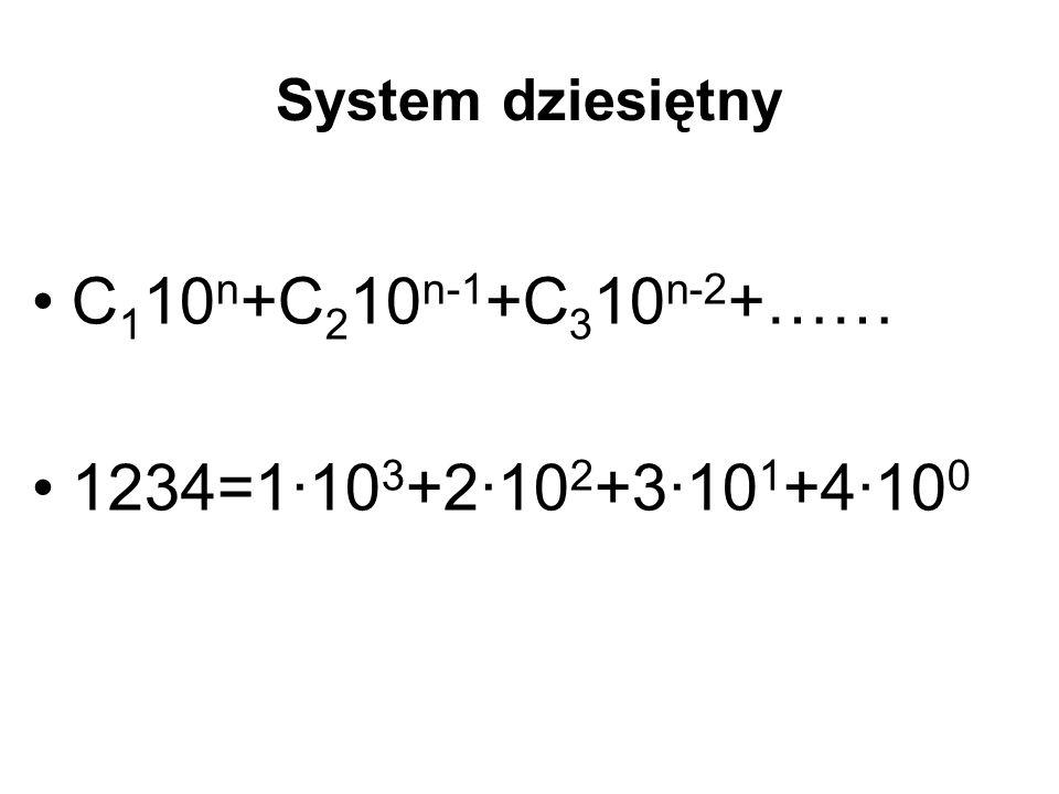 C110n+C210n-1+C310n-2+…… 1234=1·103+2·102+3·101+4·100