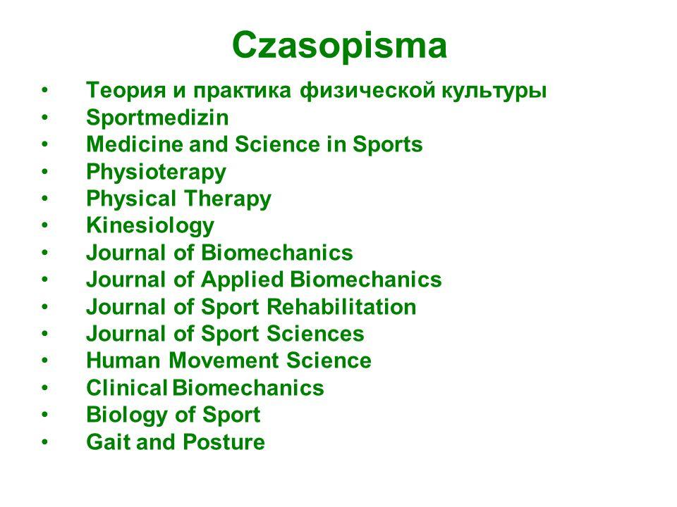 Czasopisma Теория и практика физической культуры Sportmedizin