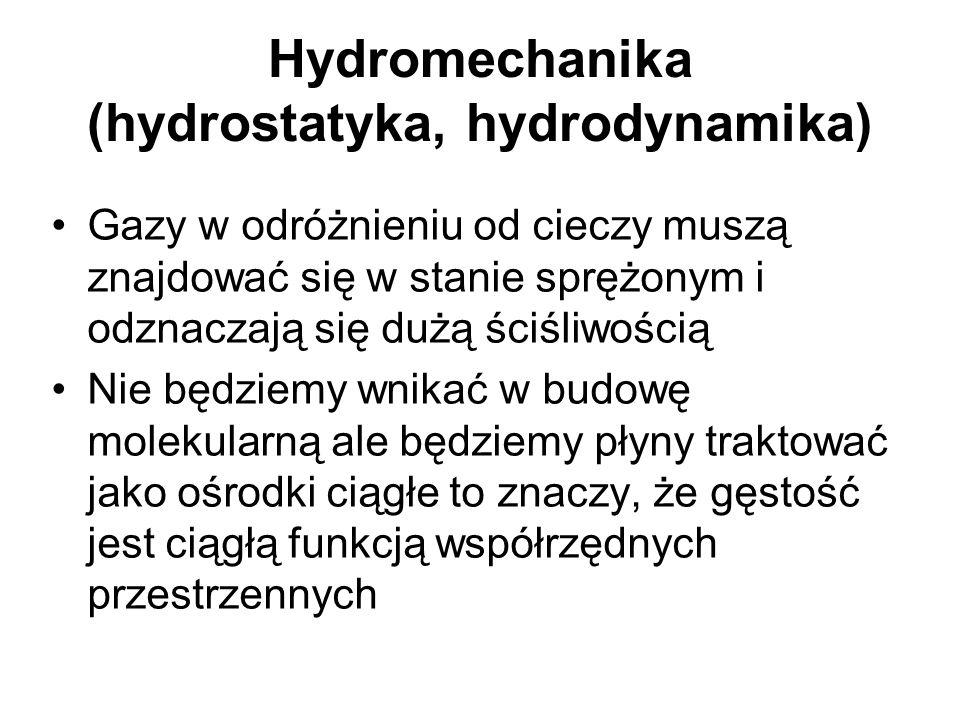 Hydromechanika (hydrostatyka, hydrodynamika)