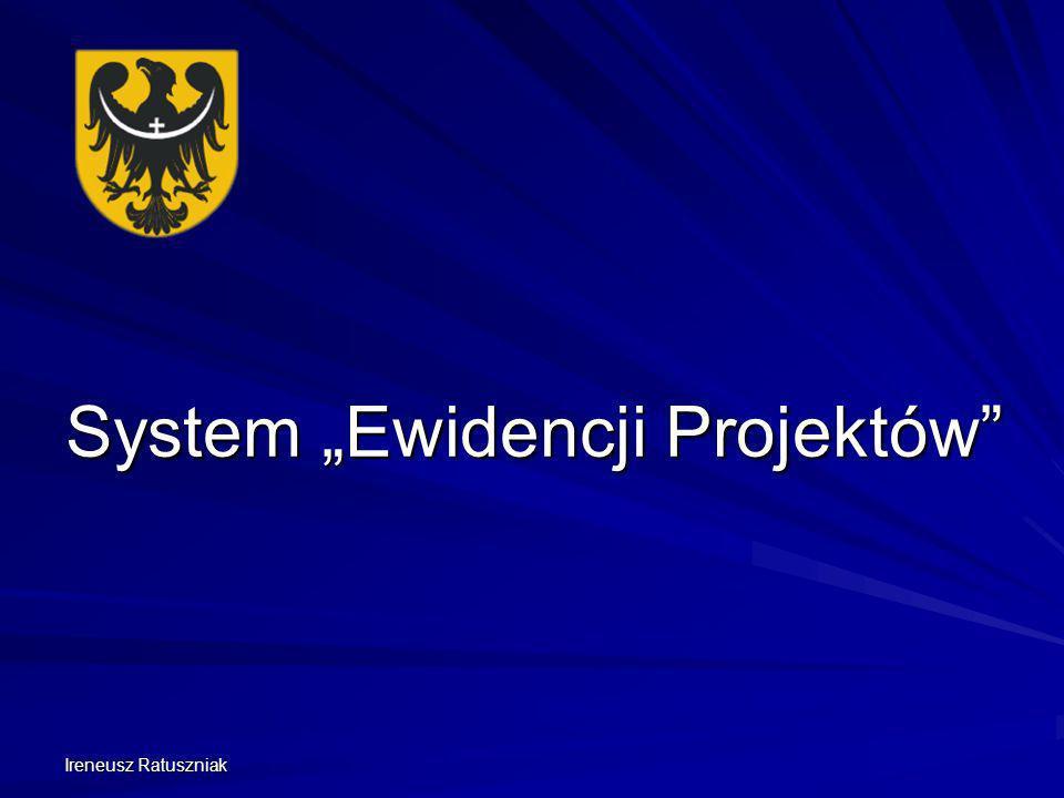 """System """"Ewidencji Projektów"""