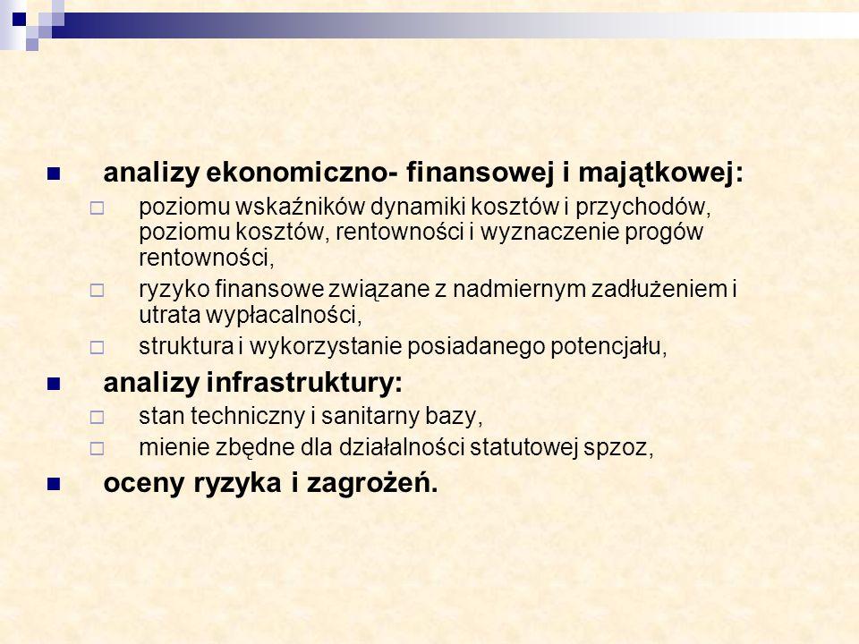 analizy ekonomiczno- finansowej i majątkowej: