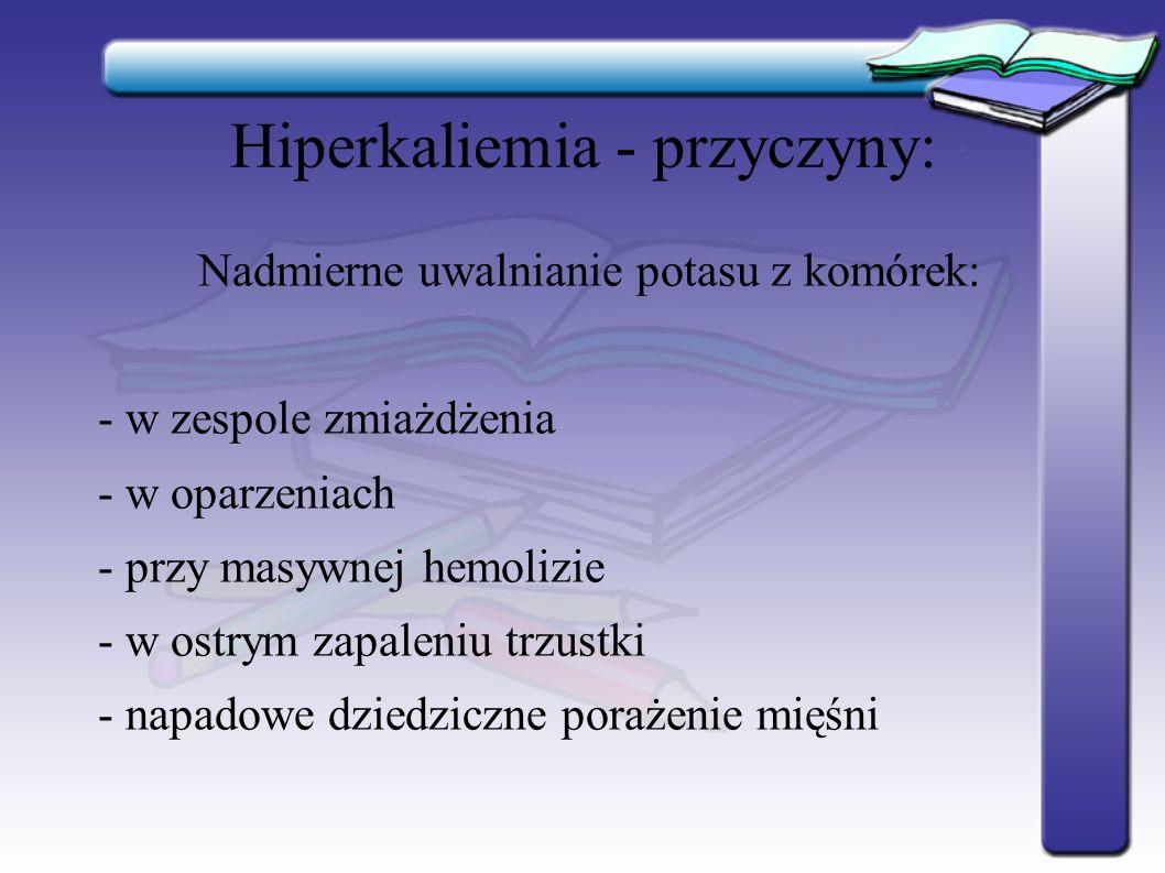 Hiperkaliemia - przyczyny:
