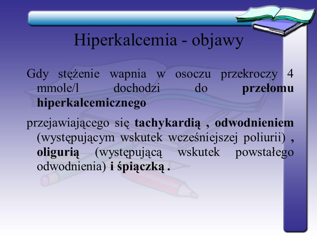 Hiperkalcemia - objawy