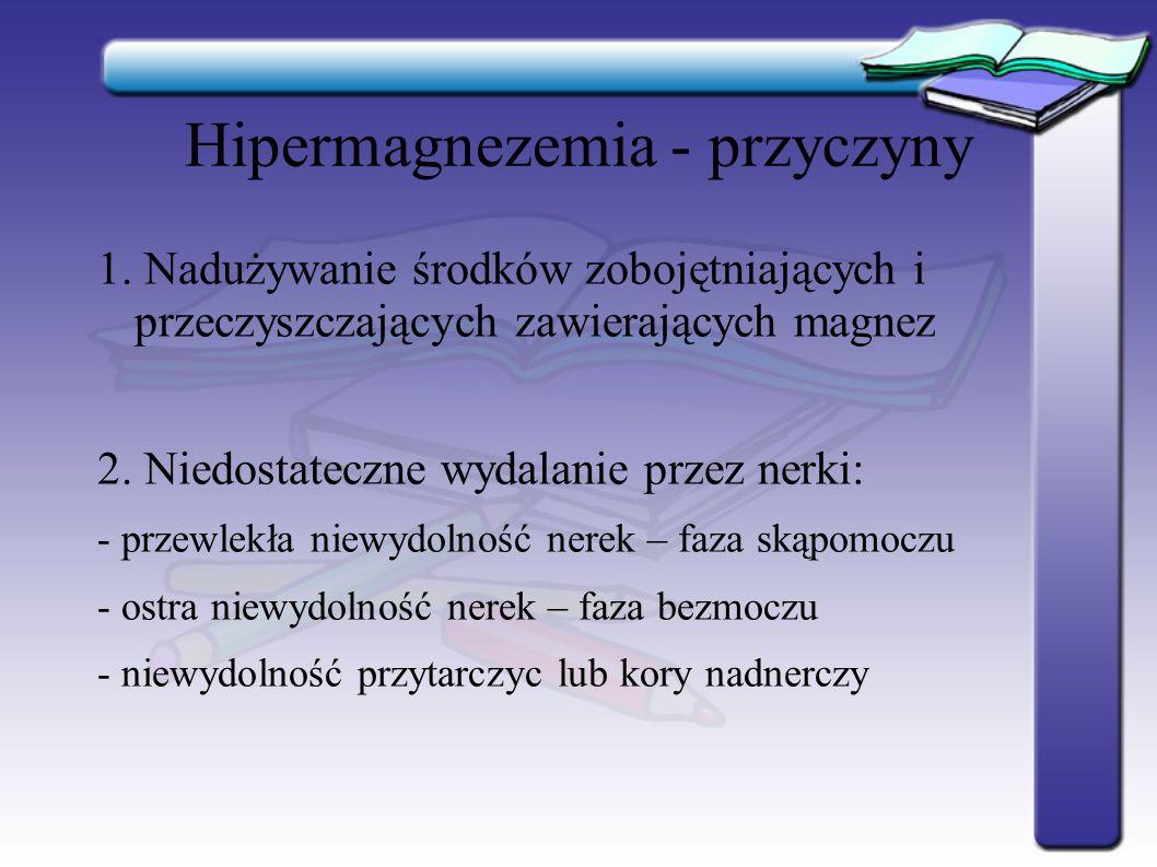 Hipermagnezemia - przyczyny