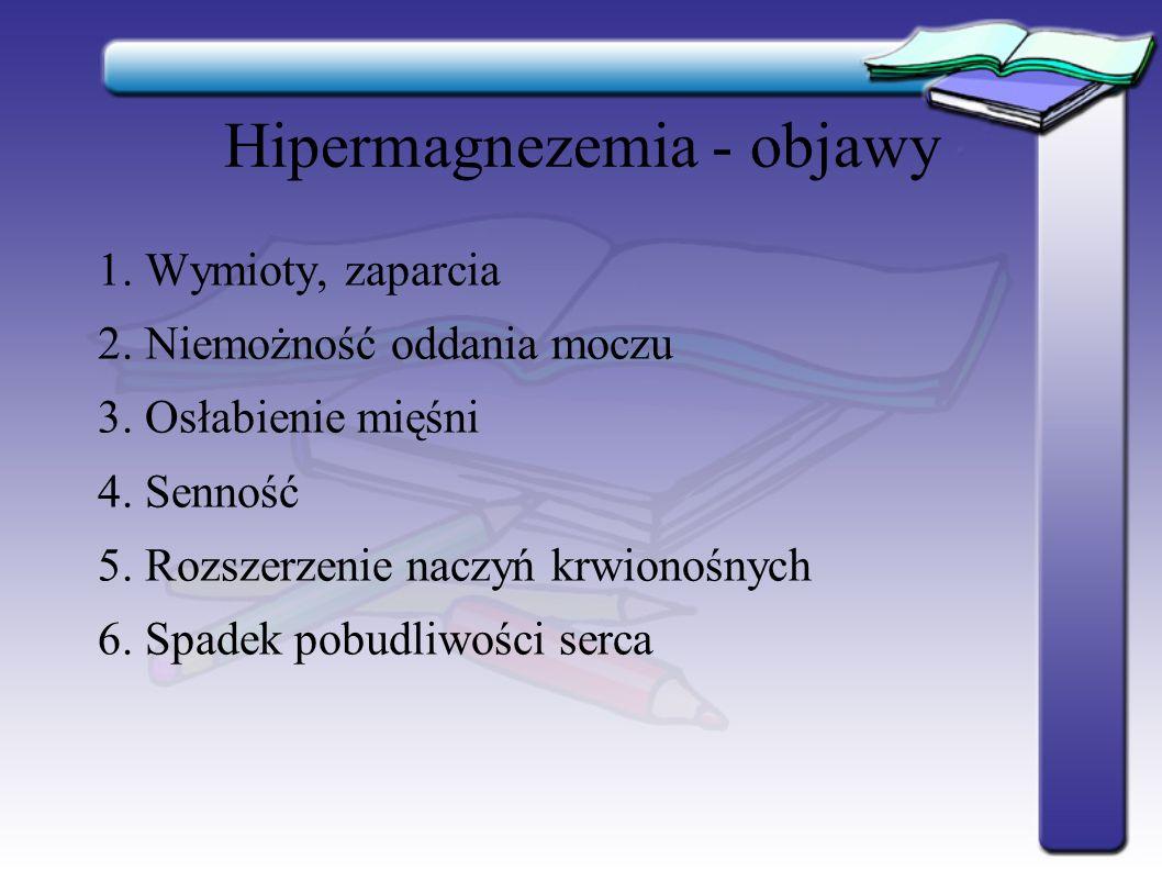 Hipermagnezemia - objawy