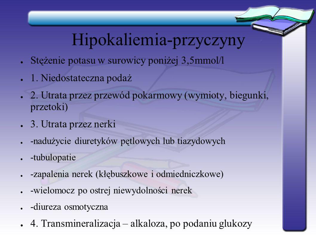 Hipokaliemia-przyczyny