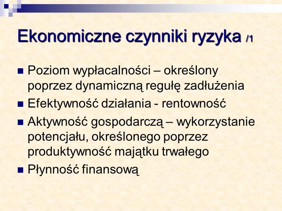 Ekonomiczne czynniki ryzyka /1