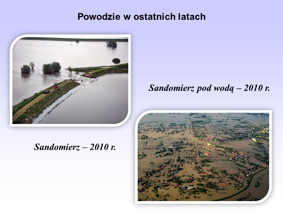 Powodzie w ostatnich latach