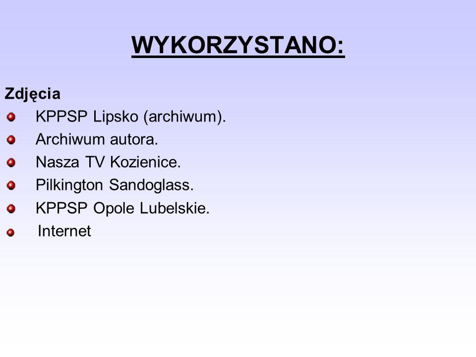 WYKORZYSTANO: Zdjęcia KPPSP Lipsko (archiwum). Archiwum autora.