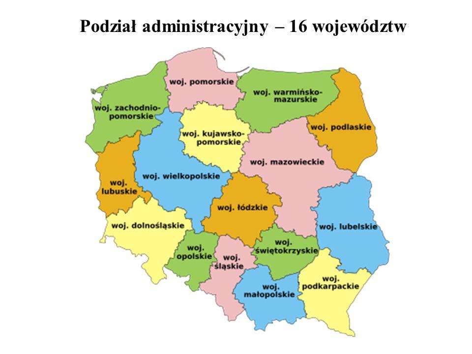Podział administracyjny – 16 województw