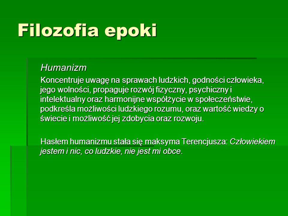 Filozofia epoki Humanizm