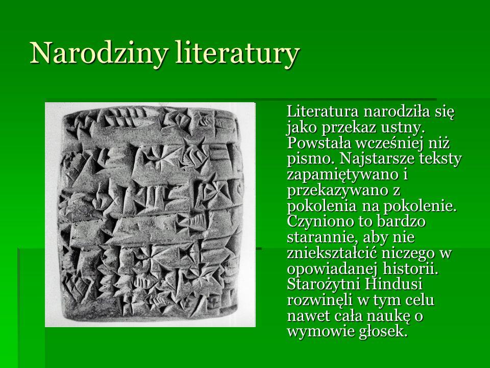Narodziny literatury
