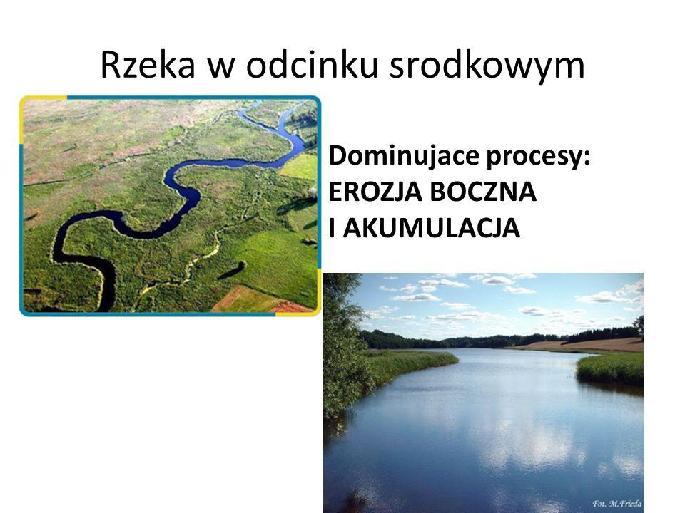 Rzeka w odcinku srodkowym