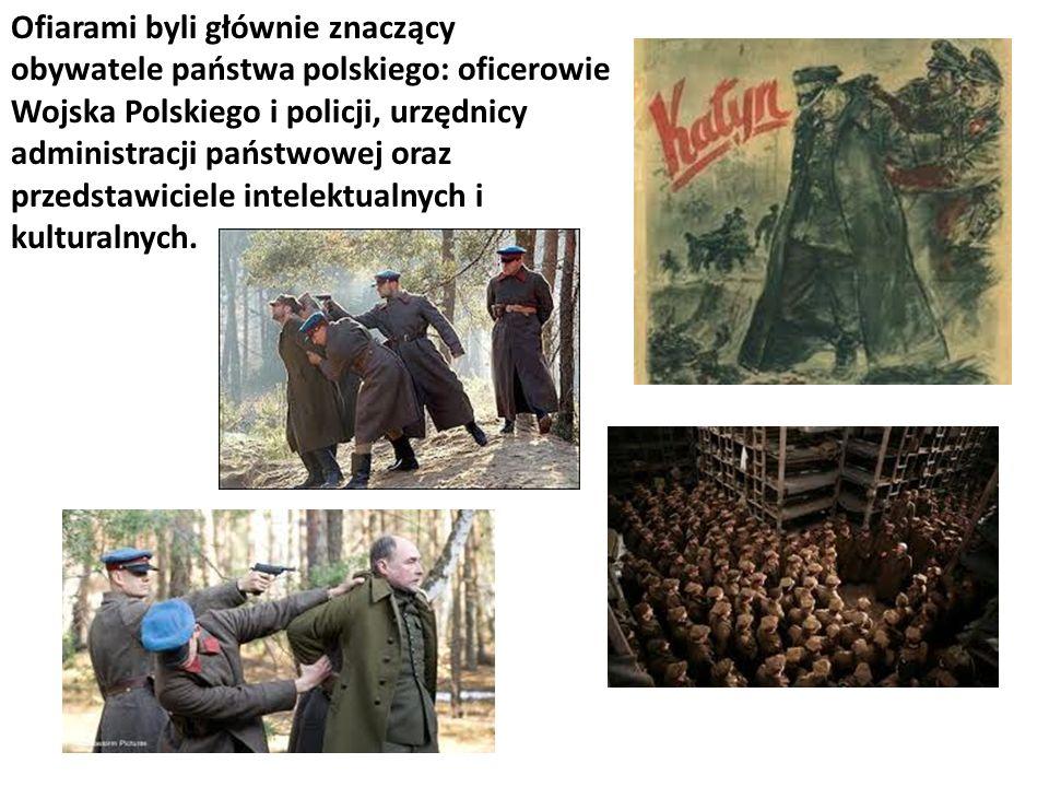 Ofiarami byli głównie znaczący obywatele państwa polskiego: oficerowie Wojska Polskiego i policji, urzędnicy administracji państwowej oraz przedstawiciele intelektualnych i kulturalnych.