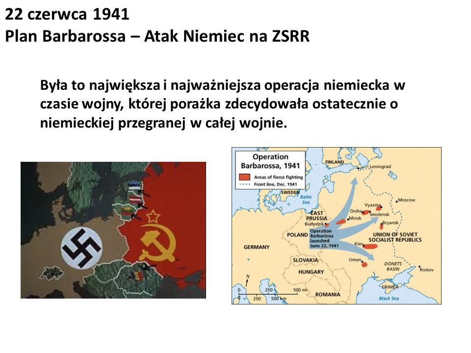 Plan Barbarossa – Atak Niemiec na ZSRR