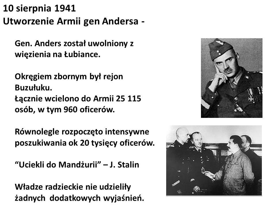 Utworzenie Armii gen Andersa -