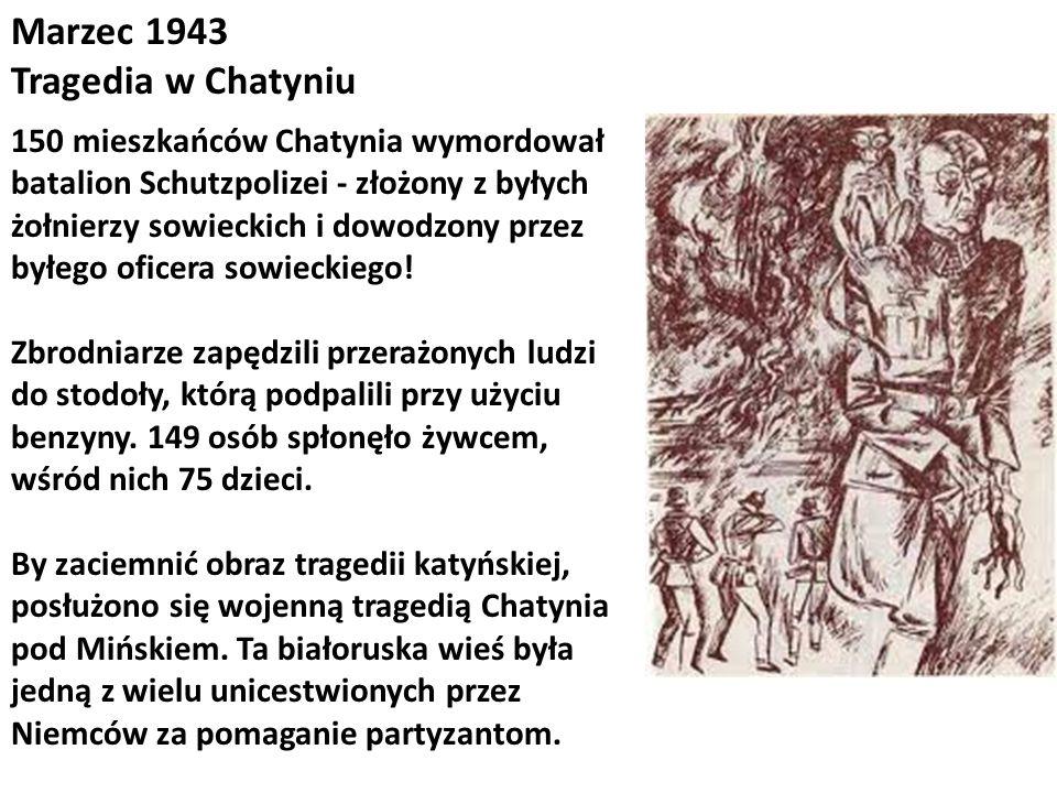 Marzec 1943 Tragedia w Chatyniu