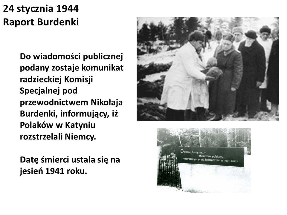 24 stycznia 1944 Raport Burdenki