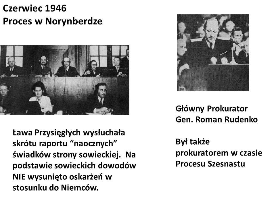 Czerwiec 1946 Proces w Norynberdze Główny Prokurator