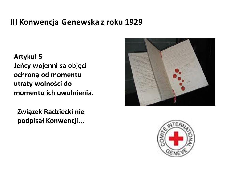 III Konwencja Genewska z roku 1929
