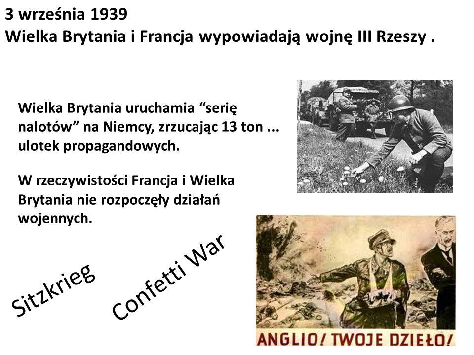 Confetti War Sitzkrieg 3 września 1939