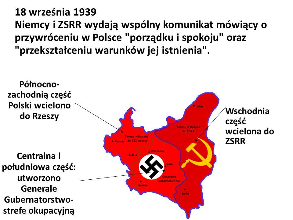 Północno-zachodnią część Polski wcielono do Rzeszy
