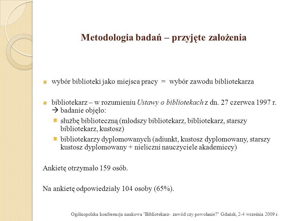 Metodologia badań – przyjęte założenia