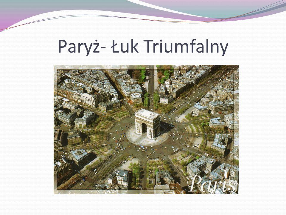 Paryż- Łuk Triumfalny