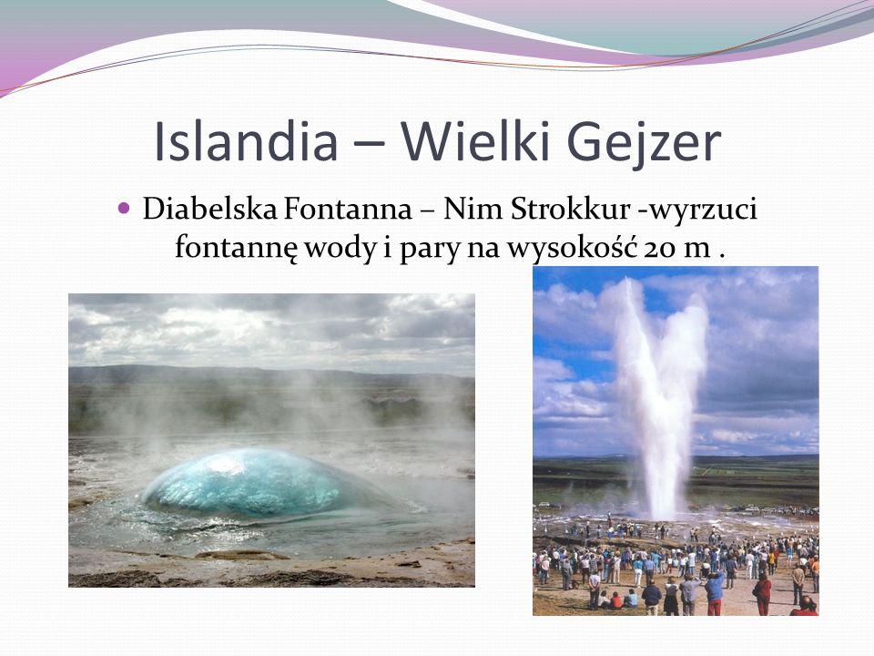 Islandia – Wielki Gejzer