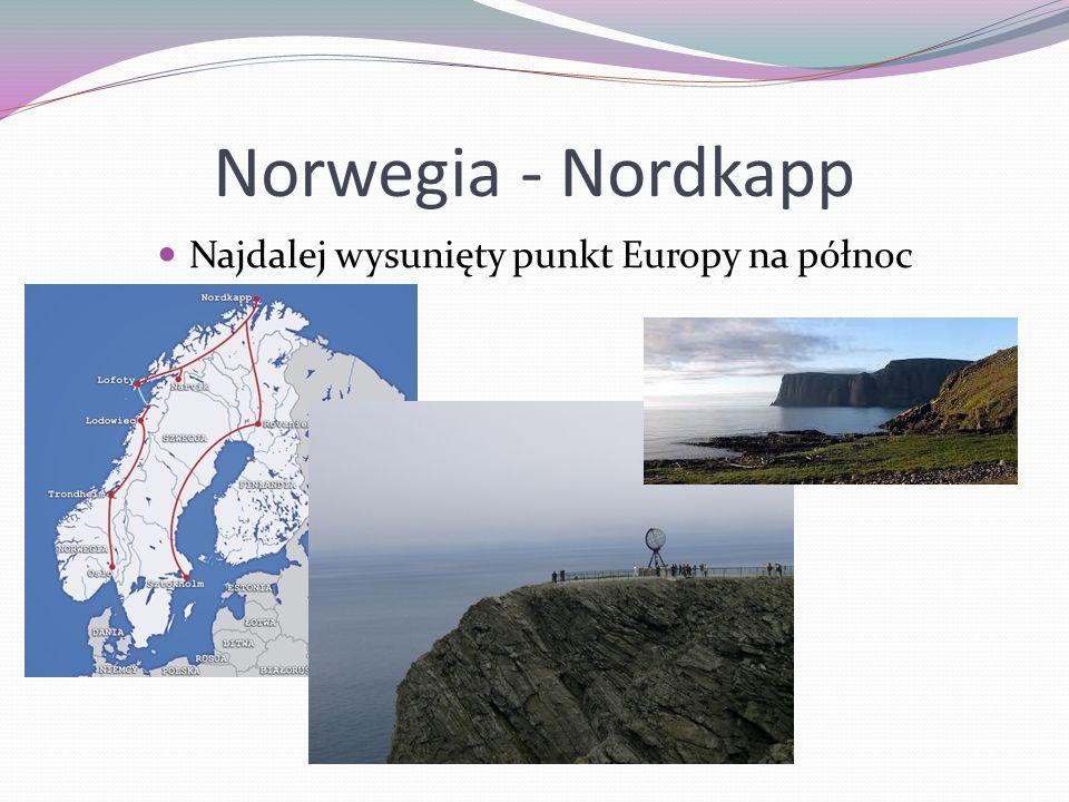 Najdalej wysunięty punkt Europy na północ