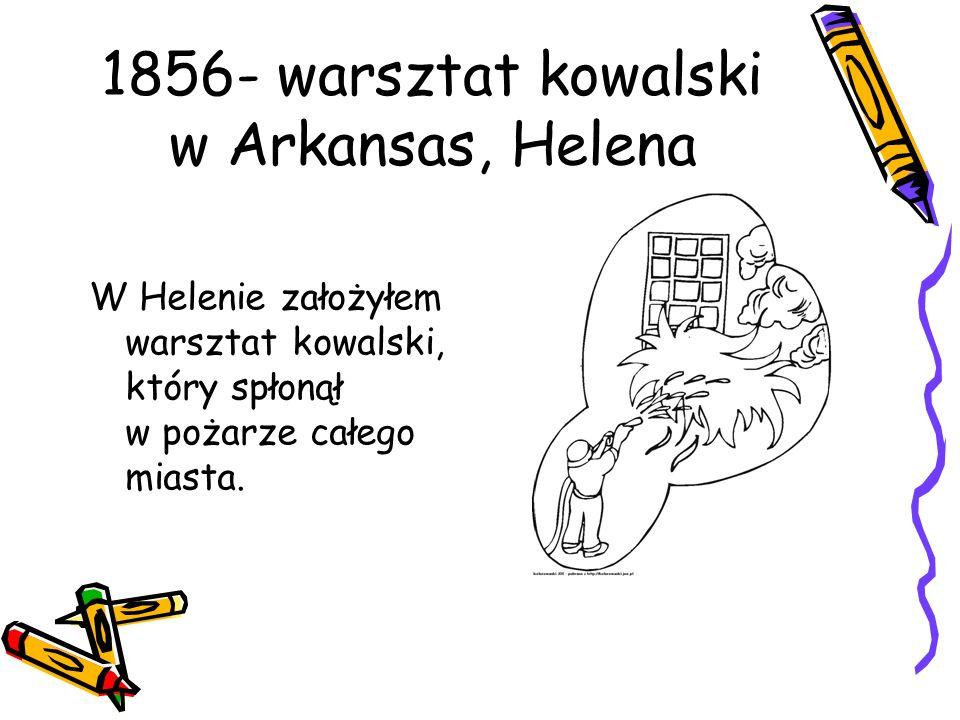 1856- warsztat kowalski w Arkansas, Helena