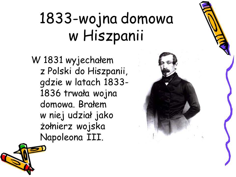 1833-wojna domowa w Hiszpanii