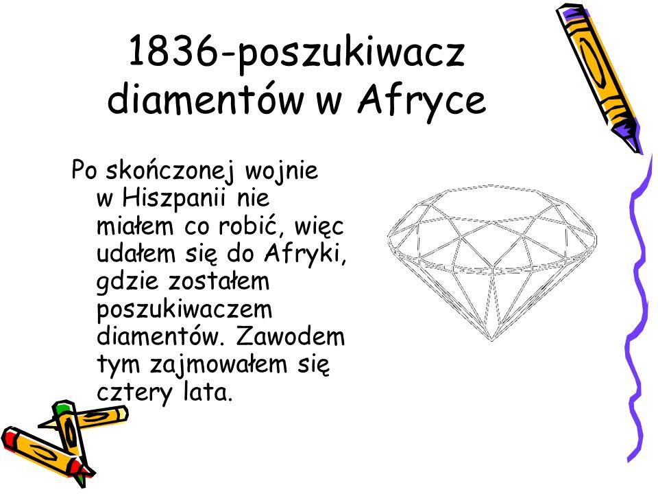 1836-poszukiwacz diamentów w Afryce