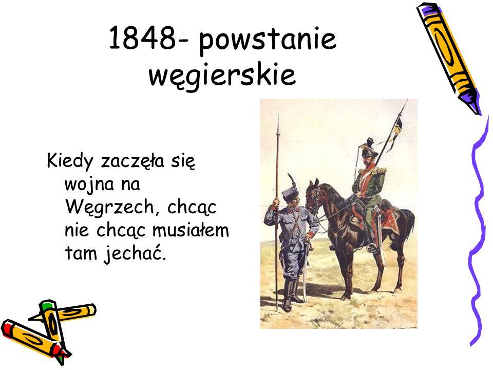1848- powstanie węgierskie