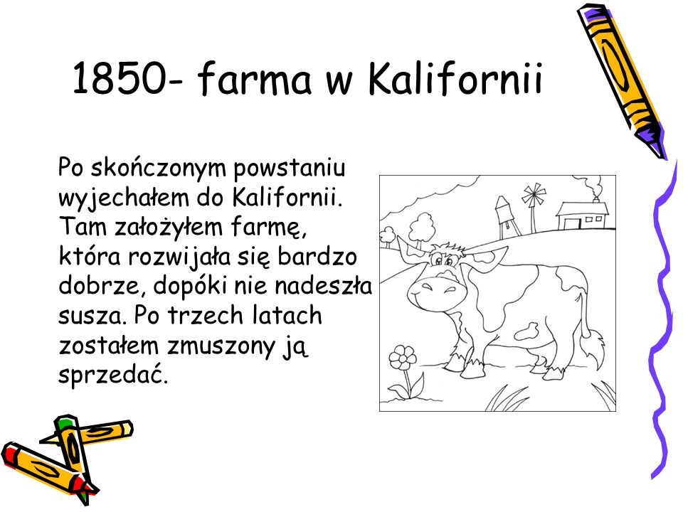 1850- farma w Kalifornii